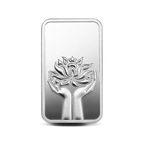 MMTC-PAMP India Pvt. Ltd. Lotus Series 999.9 purity 50 gm Silver Bar