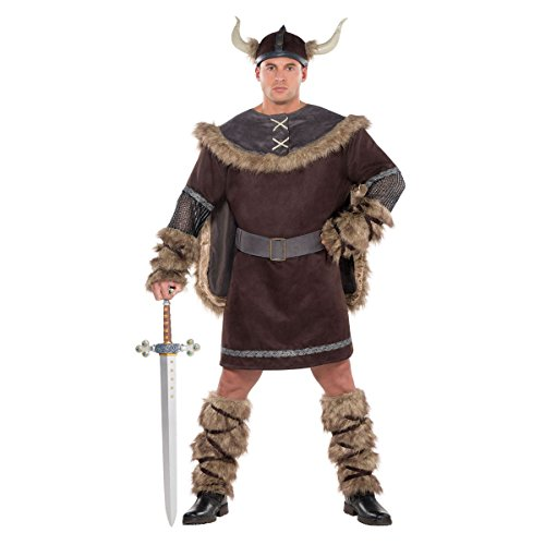 amscan Adult Viking Warrior Costume Plus Size]()