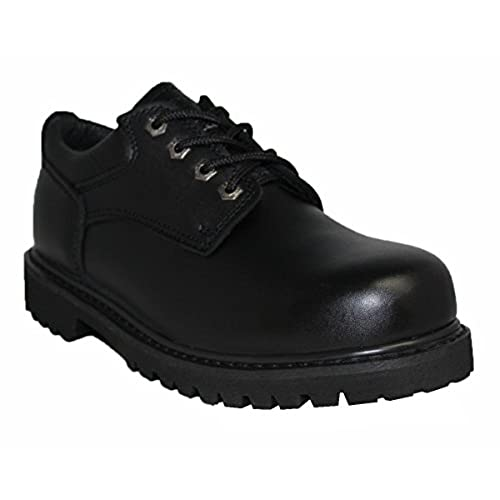 d097257048f ZANCO MEN S CONSTRUCTION BOOTS STEEL SHANK BLACK ACTION LEATHER   7426 free  shipping