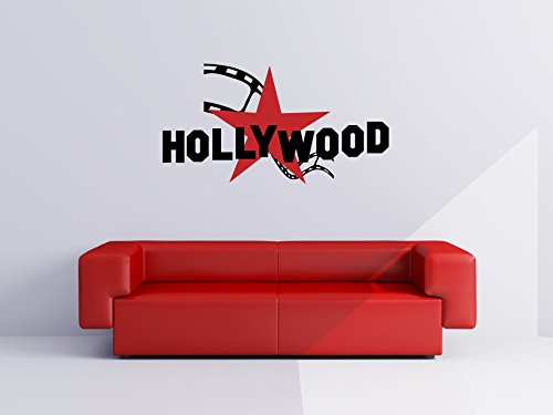 - Hollywood Star and Film Strip Vinyl Wall Words Decal Sticker Graphic