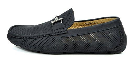 Bruno Marc Mens Ralph-01 Rijdbare Loafers Mocassins Schoenen Zwart