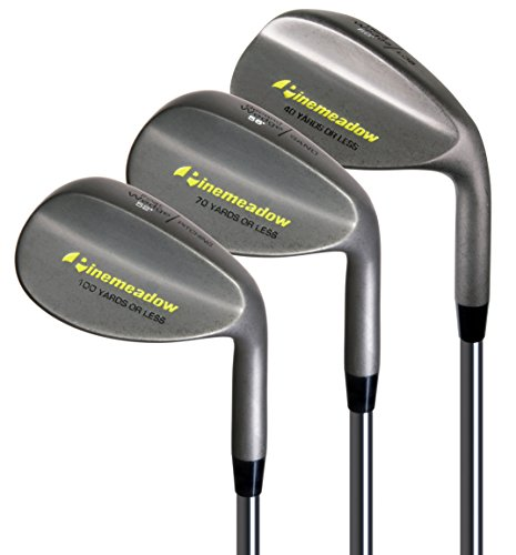 Pinemeadow Golf Men's 3 Wedge Set, Right Hand, Steel, Regular
