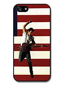 Bruce Springsteen Guitar American Flag Case For Iphone 5/5S Cover