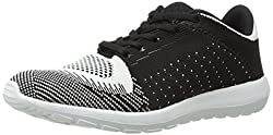 Qupid Women's Romeo-01 Fashion Sneaker, Black/White, 5.5 M US