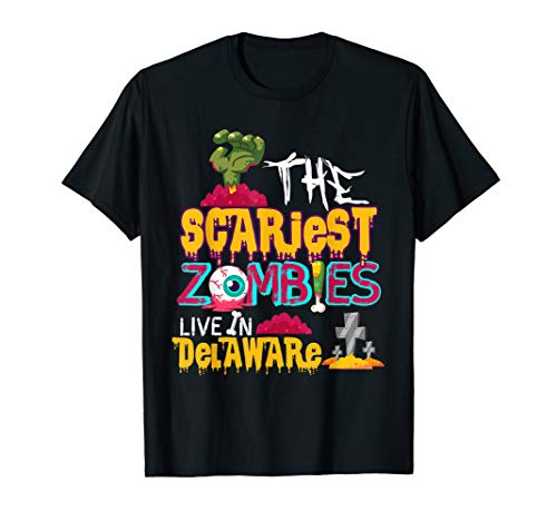 The Scariest Zombies Live In Delaware Costume T-Shirt -