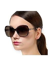 Protineff Lentes de Sol para Mujer, Gafas de Sol de Moda Polarizadas, Lentes de Sol de Gran Tamaño con Marco Grandes para Señoras - 100% UV Protección