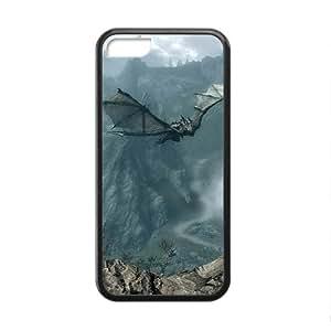 Custom de The Elder Scrolls V Skyrim Desgin Super Quality TPU Case Cover for iPhone 5C