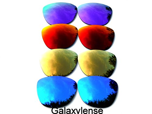 Galaxy Replacement Lenses for Oakley Frogskins Blue&Gold&Red&Purple Color Polarized 4 Pairs,FREE - Frogskin Polarized