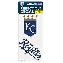 "MLB Kansas City Royals 2-Piece Die-Cut Decal, 4"" x 8"""