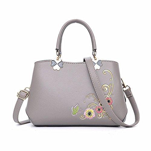 Moda Hombro de Gris de Bag A Mujeres de CCZUIML Las Bolso la Nuevo púrpura B p40qIfB