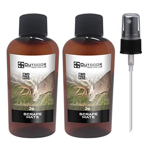 Outdoor Hunting Labs Scrape Lure Deer Attractant - 100% Natural Liquid Scent Lure - Whitetail Deer Urine for Hunting (2 Bottle)