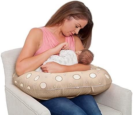 Clevamama Cojín de Lactancia 10 en 1 - Cojín para Embarazo y Alimentación de Bebés con Espuma Transpirable