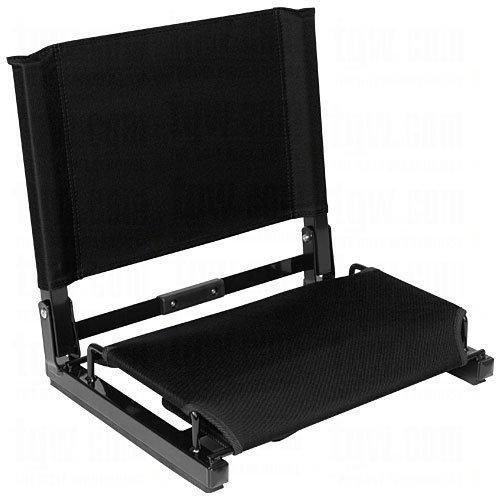 "Patented Stadium Chair Bleacher Seat Black 15.5"" X 17""W X 14.5""H (Open) 2"