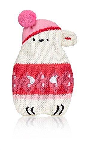 Hot Buddies Polar Bear Knitted Cover Mini Hottie Reusable Gel Handwarmer by NPW - Mini Hottie Hand Warmer