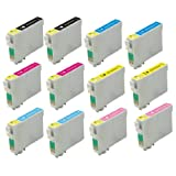Virtual Outlet ® 12 Pack Remanufactured Inkjet Cartridges for Epson T079 #79, T079120 T079220 T079320 T079420 T079520 T079620 Compatible with Epson Stylus Photo 1400, Artisan 1430 (2 Black, 2 Cyan, 2 Magenta, 2 Yellow, 2 Light Cyan, 2 Light Magenta)