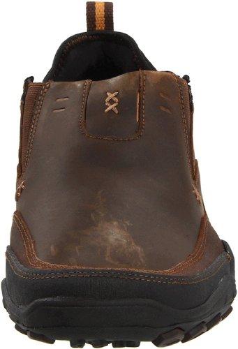 Skechers PebbleDaley 63403 CDB - Zapatos de cuero para hombre Marrón