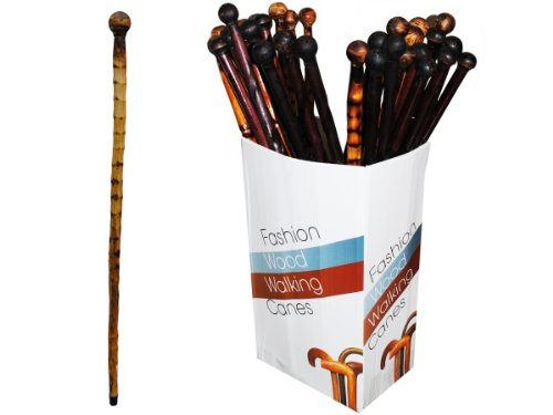 Wooden Walking Canes Floor Display - Case of 40 by bulk buys (Image #1)
