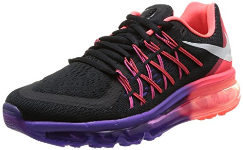 Nike Air Max 2015 womens Running Shoe Black/Hyper Punch/Hyper Grape/White - Beau Sides