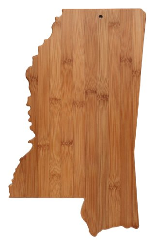 Totally Bamboo State Cutting & Serving Board, Mississippi, 100% Bamboo Board for Cooking and Entertaining