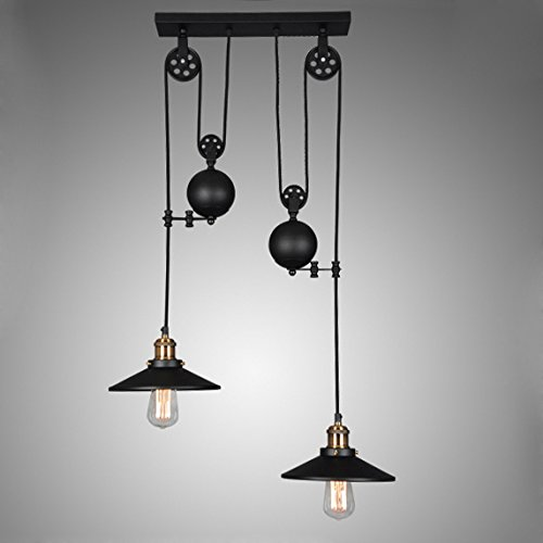 Lovedima tray adjustable height pulldown island pendant light lovedima tray adjustable height pulldown island pendant light ceiling lamp retro industrial 1 light2 lights3 lights mozeypictures Image collections