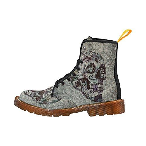 Leinterest Cool Skull Martin Boots Fashion Shoes Voor Heren