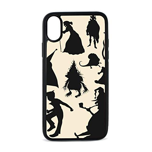 (KEAKIA Hallowen Characters Shadow iPhone X Case Rubber Shockproof Cover Protective Case for Apple iPhone)
