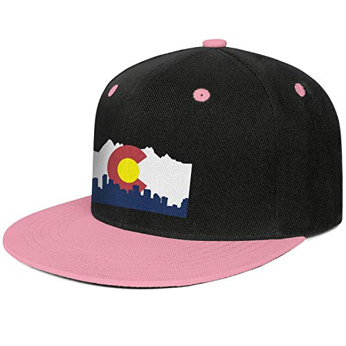 GHJYHSVC The Flag of Colorado Pink Unisex Classical Hip Hop Sports Fishing Fitted Hats ()