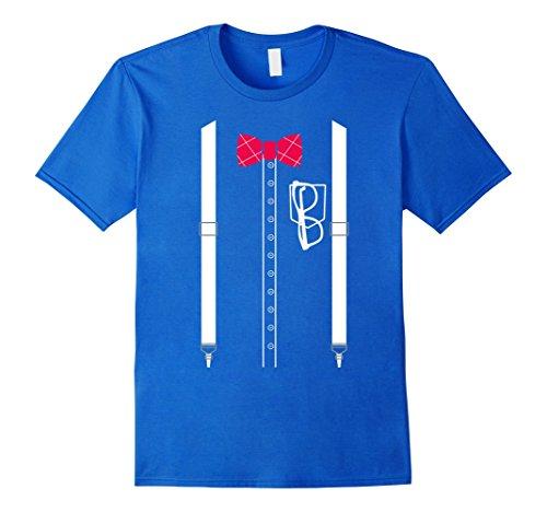 Slender Man Costume Amazon (Mens Nerd T Shirt Costume Nerdy Dress XL Royal Blue)