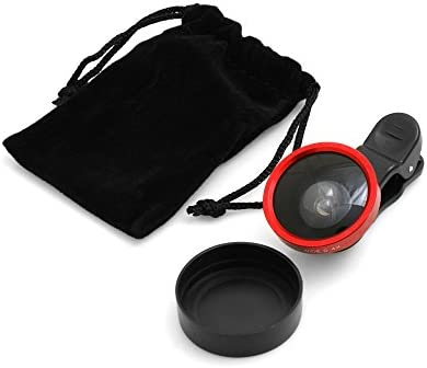 Sistema de S Universal Clip-on Lente Super Gran Angular 0.4 x para Smartphone y Tablet PC en Color Rojo: Amazon.es: Electrónica