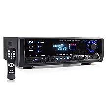 Pyle Audio PT390BTU Bluetooth Digital Home Theater Stereo Receiver, Aux Input, MP3/USB/SD Readers, AM/FM Radio, 300 Watt