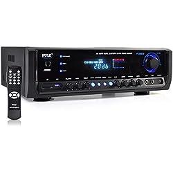 Pyle PT390BTU Bluetooth Digital Home Theater Stereo Receiver, Aux Input, MP3/USB/SD Readers, AM/FM Radio, 300 Watt