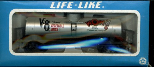 Life Like HO Scale Tank Car - V8 Vegetable Juice - #8420
