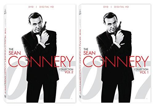 Sean Connery 007 Collection James Bond DVD Volume 1 & 2 Goldfinger - Thunderball + 6 Movie Set