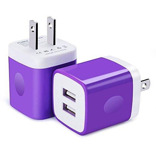USB Wall Charger, Charging Brick, FiveBox 2-Pack 2.1A Dual Port Wall Charger Adapter Charger Box Base Charging Block Plug Charger Cube for iPhone X/8/6/6s/7 Plus, iPad, Samsung, Android, Moto, HTC, LG