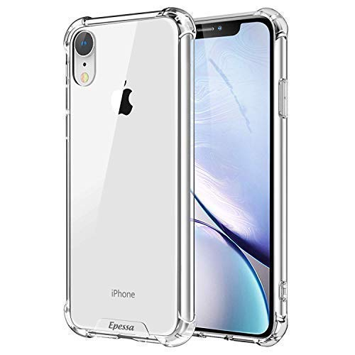 Epessa Crystal Clear iPhone XR Case 2018, 6 1'' Slim Clear Soft Flexible  TPU Cover with Corner Bumper Protection,Hard PC Back,Fit with Apple iPhone  XR