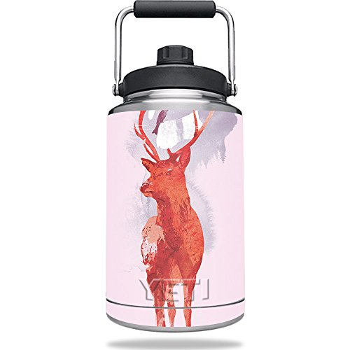 MightySkins Skin Compatible with Yeti One Gallon Jug - Domestic Deer | Protective, Durable, and Unique Vinyl Decal wrap Cover | Easy to Apply, Remove, and Change Styles | Made - Jug 1 Deer Gallon