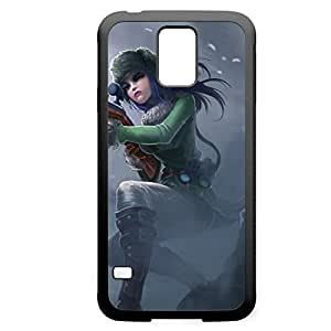 Caitlyn-002 League of Legends LoL case cover for Samsung Galaxy S5 - Rubber Black