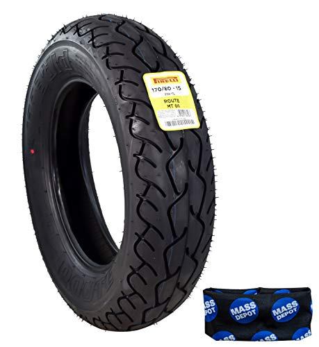 Pirelli MT 66 Route Motorcycle Cruiser Tire (170/80-15 R) Includes Neck Gaiter
