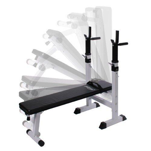 Physionics - Banco de pesas + Mancuernas de 30 kg + Barra de pesas de 60 kg: Amazon.es: Deportes y aire libre
