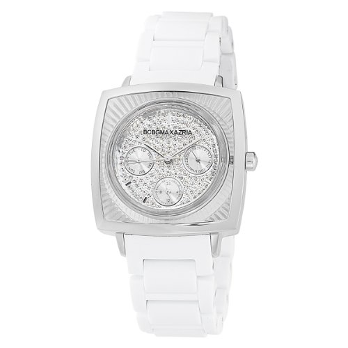 BCBGMAXAZRIA Women's BG8229 Elite Sport  White Rubber Watch (Ladies Watch Bcbgmaxazria)