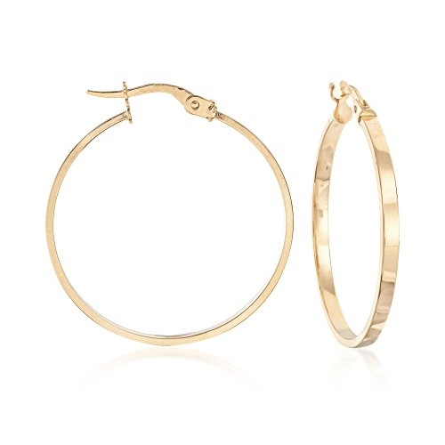 Ross-Simons Italian 14kt Yellow Gold Hoop Earrings ()