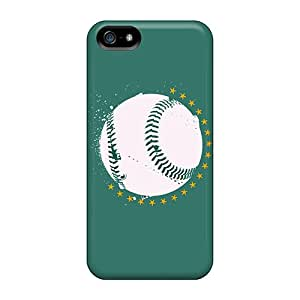 Iphone 5/5s Vcd2611UefE Unique Design Beautiful Oakland Athletics Pictures Shockproof Hard Phone Covers -AnnaDubois