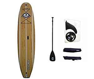"CBC 10'6"" Classic Foam Paddle Board SUP Package: Adjustable Paddle, SUP Leash, One Center Fin, Camera Mount, Protective Tail Cap & Roof Racks!"