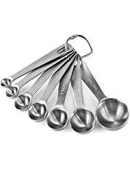 Measuring Spoons: U-Taste 18/8 Stainless Steel Measuring Spoons Set of 7