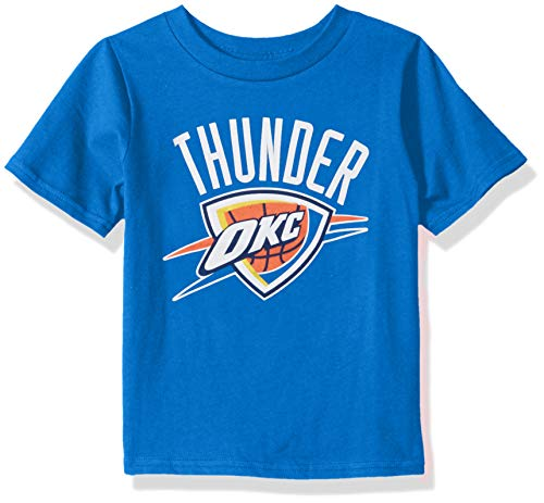 Outerstuff NBA NBA Kids & Youth Boys Oklahoma City Thunder Primary Logo Short Sleeve Basic Tee, Strong Blue, Youth ()