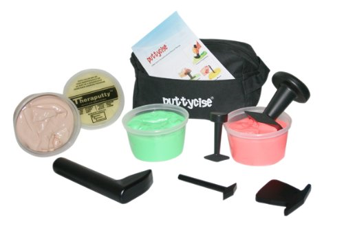 Puttycise174; TheraPutty174; Set, 5 Tools, 4 x 1 lb. Putties, Easy (Tan, Yellow, Red, Green)