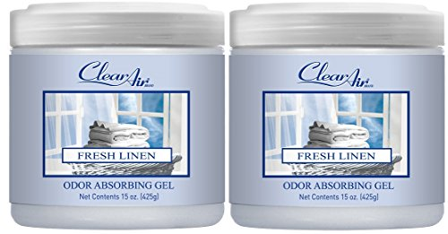 Clear Air Odor Absorber Gel - Air Freshener and Odor Eliminator - Absorbs Odors in Bathrooms