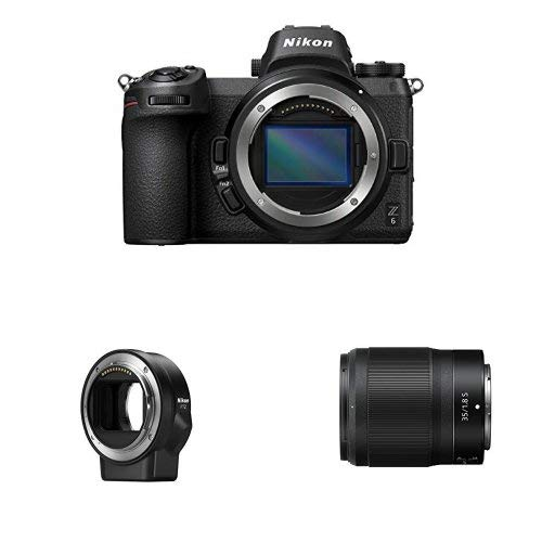 Nikon Z6 FX-Format Mirrorless Camera Body with NIKKOR Z 35mm f/1.8 S and Mount Adapter FTZ