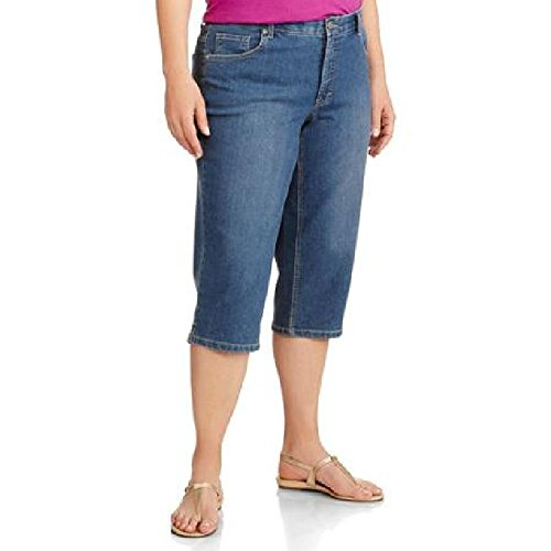 Faded Glory Women's Plus-Size Denim Capri Pants with a Comfort Waistband (20W)