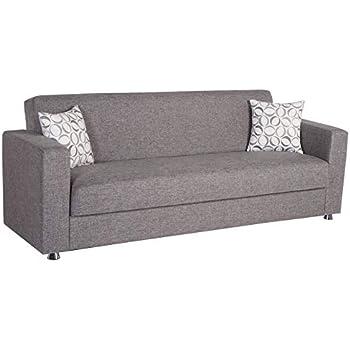 Amazon.com: Vision Diego Gris Convertible sofá cama por ...